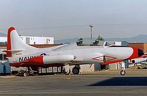Lockheed T2V SeaStar - T-1 Seastar in airworthy condition at Salt Lake City Airport in 1994. Still operational in 2011.