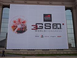 Logo de 3GSM World Congress a la Fira de Barcelona.JPG