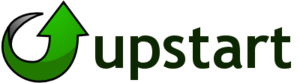 English: This is a logo for Upstart.