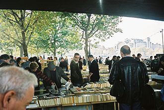 Used book - The South Bank Book Market in front of the National Film Theatre, London, England, in October 2004