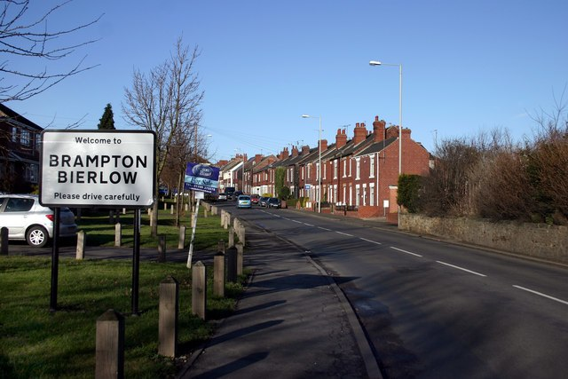 Looking North up Packman Road into Brampton Bierlow - geograph.org.uk - 1125106