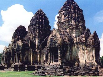 Lavo Kingdom - Prang Sam Yot, showing considerable Khmer influences on the architecture