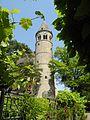 Lorch - Klostergarten mit Rundturm, rom..JPG