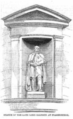 Alexander Fraser, 16th Lord Saltoun - Drawing of statue by Edward Bowring Stephens (1815-1882) of Lt-Gen. Alexander Fraser, 17th Lord Saltoun (1785-1853) at Fraserburgh