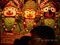Lord Jagannath, Balaram and Shubhadra in ISKCON temple, Pune.jpg