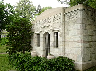 George Horace Lorimer - Lorimer's tomb in Laurel Hill Cemetery overlooks the Schuylkill River and Kelly Drive.