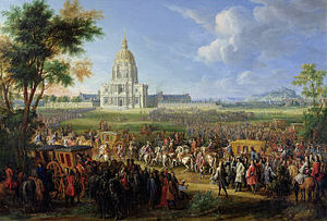 Paris in the 18th century - Louis XIV makes his last visit to Paris to see the new dome of Les Invalides (1706)