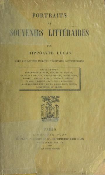 File:Lucas - Portraits et souvenirs littéraires, 1890.djvu