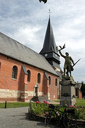 Luchy, Oise, France - church and monument.JPG