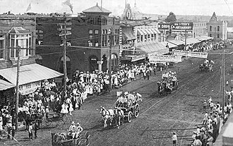 Lufkin, Texas - Parade in downtown Lufkin, circa 1911