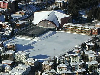 Vaillant Arena - Image: Luftbild Eisstadion Davos