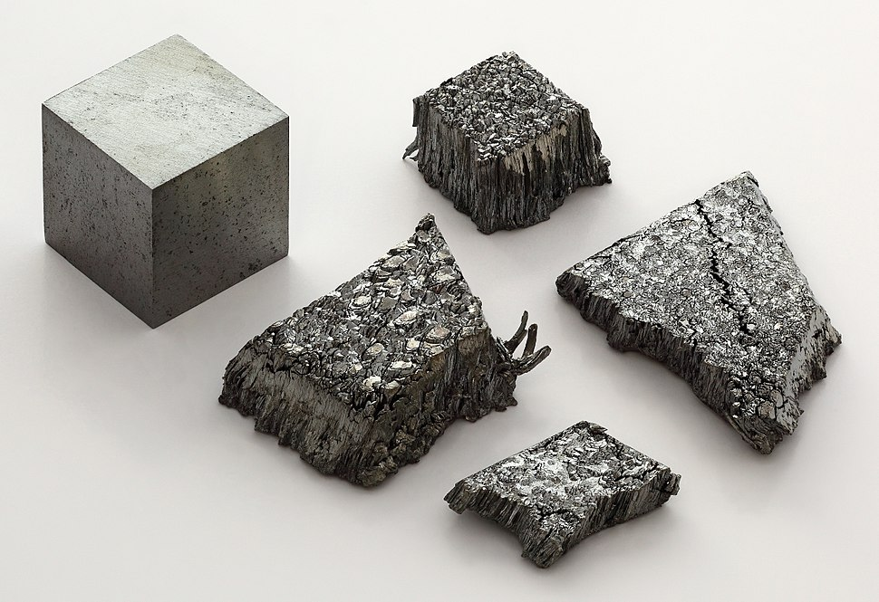 Lutetium sublimed dendritic and 1cm3 cube