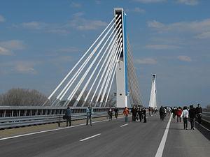 M43 motorway (Hungary) - Image: Móra Ferenc híd 01