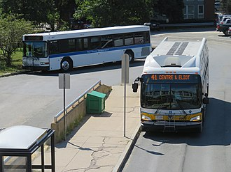 JFK/UMass station - Buses at JFK/UMass in 2018