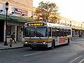 MBTA route 96 bus at Medford Square, June 2015.JPG