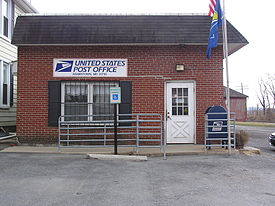 The Adamstown post office in March 2004.