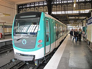 Paris Métro Line 5 - MF 01stock train at Gare d'Austerlitz.