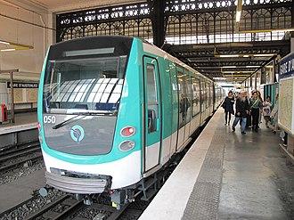 Paris Métro Line 5 - MF 01stock train at Gare d'Austerlitz.