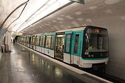 MF 88 Buttes Chaumont metro station