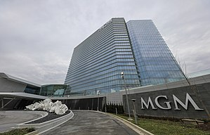 MGM National Harbor - Main entrance to casino (c.2016)
