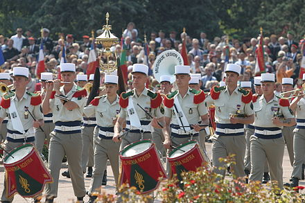 The French Foreign Legion has its own military band - French Foreign Legion