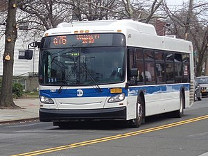 Francis Lewis Boulevard - A Q76 bus in Whitestone.