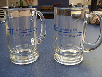 Michigan Terminal System - Mugs from MTS Workshop VIII, Ann Arbor, July 1982