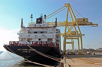 Military Ocean Terminal Sunny Point - The MV Capt. Steven L. Bennett at the Military Ocean Terminal Sunny Point, N.C.