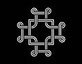 Macedonian Cross, white, black background.jpg