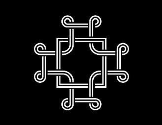 Macedonian Cross - Image: Macedonian Cross, white, black background