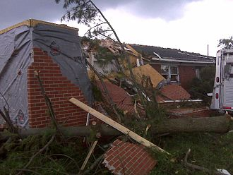 May 2009 Southern Midwest derecho - Damage to home in a subdivision in Madison County, Kentucky, from an EF-3 tornado on May 8, 2009.