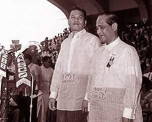 Barong Tagalog - President Magsaysay and his (eventual) successor, Vice-President Carlos P. García, at their Inauguration on 30 December 1953.