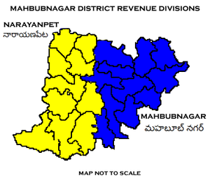 Mahbubnagar district - Mahbubnagar District Revenue divisions