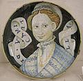 Maiolica di casteldurante o urbino, camilla bella, 1550-60.JPG
