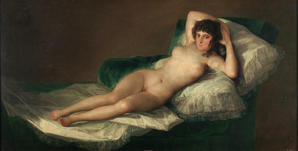 Retrato de la maja desnuda de Goya