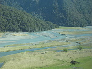 Makarora River - The Makarora River near West Makarora township.