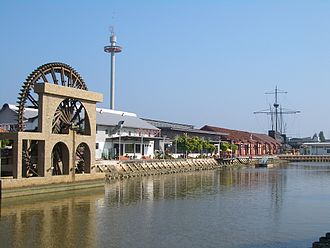 Malacca River - Image: Malacca River downtown 2335