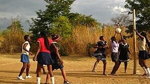 Geography of netball - Image: Malawi netball girls