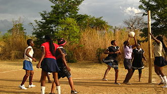 Geography of netball - Image: Malawi netball girls