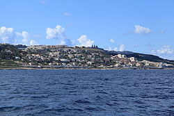 Mellieħa as viewed from the sea