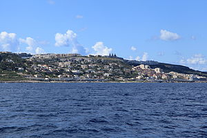 Mellieħa - Mellieħa as viewed from the sea