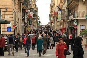 Republic Street, Valletta - Image: Malta Valletta Triq ir Repubblika 17 ies
