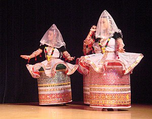 Manipuri dance - Manipuri dance originated in Manipur, a far eastern state of India bordering Burma.