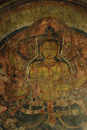 Mangyu temple complex - Manjusri, SW wall, Sakyamuni Temple Mangyu.