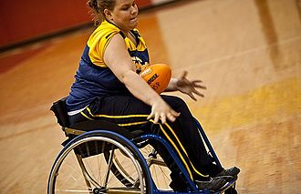 Wheelchair Football (American) - Image: Manual Wheelchair Football Player