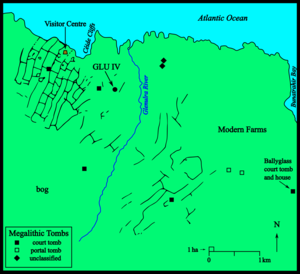 Céide Fields - Map of the Céide Fields Archaeological Site