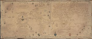Prime meridian - Diogo Ribeiro's map of 1529, now in the Vatican library
