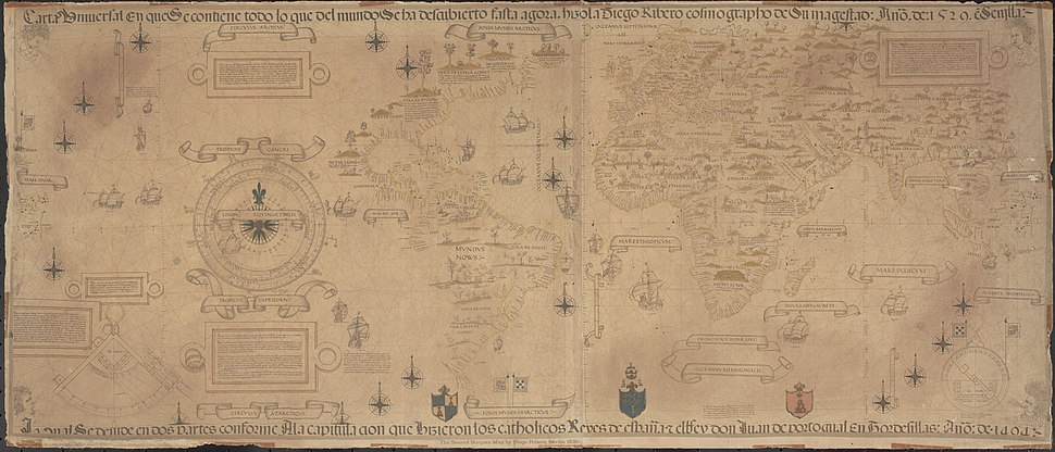 Map Diego Ribero 1529