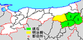 Map Yazu District, Tottori en.png