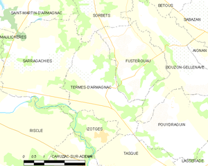 Termes-d'Armagnac - Termes-d'Armagnac and its surrounding communes